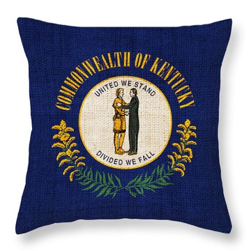 Kentucky State Flag Throw Pillow by Pixel Chimp