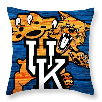 Kentucky Wildcats Barn Door Throw Pillow