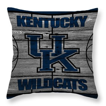Kentucky Wildcats Throw Pillow by Joe Hamilton