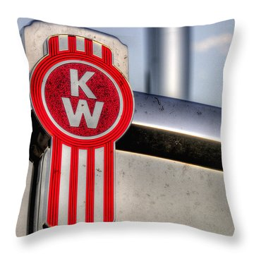 Kenworth Hood Logo 34709 Throw Pillow