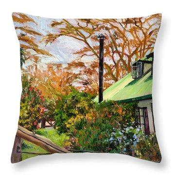 Kenyan Garden Throw Pillow