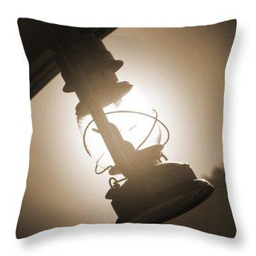 Kerosene Lantern Throw Pillow by Mike McGlothlen