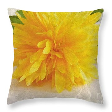 Kerria Japonica Throw Pillow