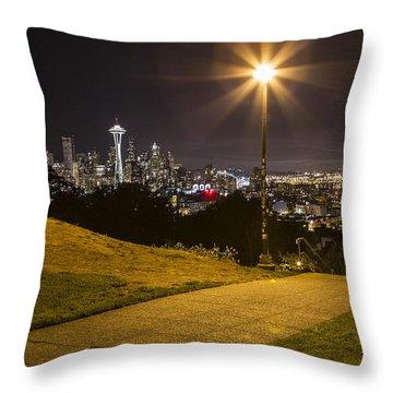 Kerry Park Seattle Throw Pillow