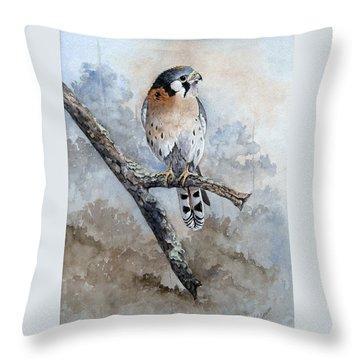 Kestrel Perch Throw Pillow