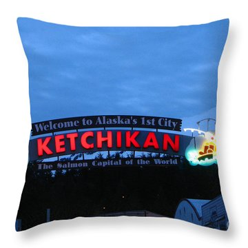 Ketchikan Throw Pillow by Robert Bales