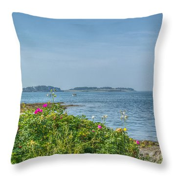 Throw Pillow featuring the photograph Kettle Cove by Jane Luxton