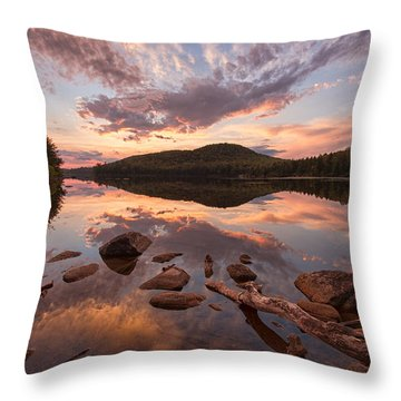 Kettle Pond Sunset Throw Pillow