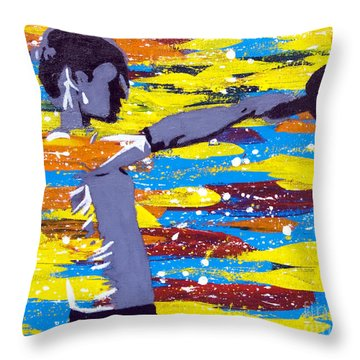 Kettlebell Throw Pillow by Denise Deiloh