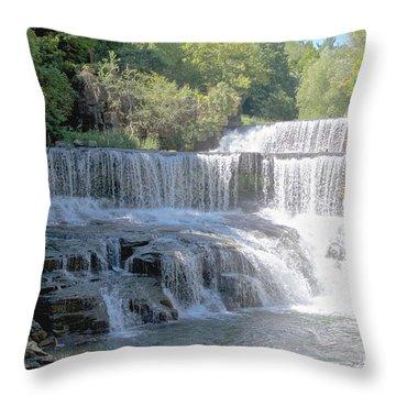 Keuka Seneca Trail Throw Pillow by William Norton