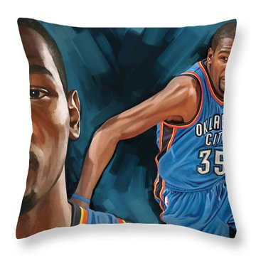 Kevin Durant Artwork Throw Pillow