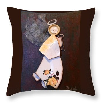 Key Angel Throw Pillow