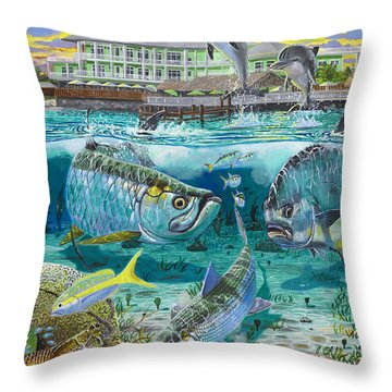 Key Largo Grand Slam Throw Pillow by Carey Chen