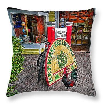 Key Lime Pie Co. Throw Pillow by Hanny Heim