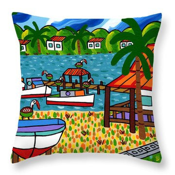 Key Motel-cedar Key Throw Pillow