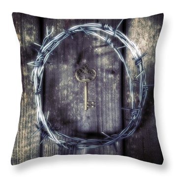 Key Of A Treasure Chest Throw Pillow by Joana Kruse