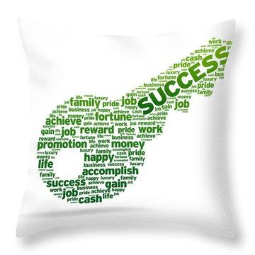 Key To Success Throw Pillow
