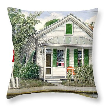Key West 1955 Throw Pillow by Bob  George