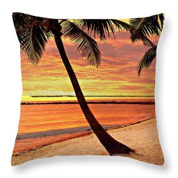Key West Beach Throw Pillow by Marty Koch