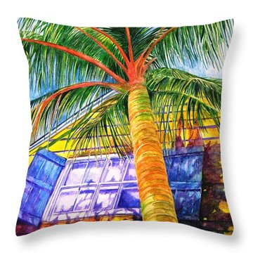 Key West Cat On A Hot Tin Roof Throw Pillow