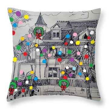 Key West Christmas Throw Pillow