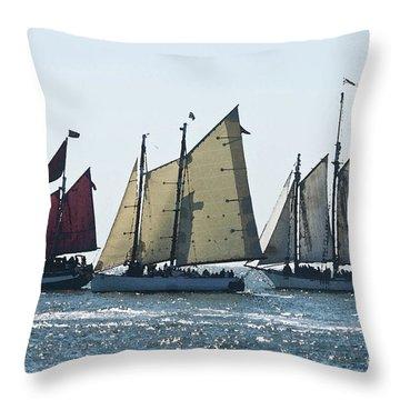 Key West Historic Navel Blockade  Throw Pillow