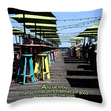 Key West Pier Romans 8 Throw Pillow