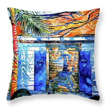 Key West Still Life Throw Pillow