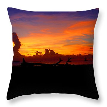 Key West Sun Set Throw Pillow by Iconic Images Art Gallery David Pucciarelli