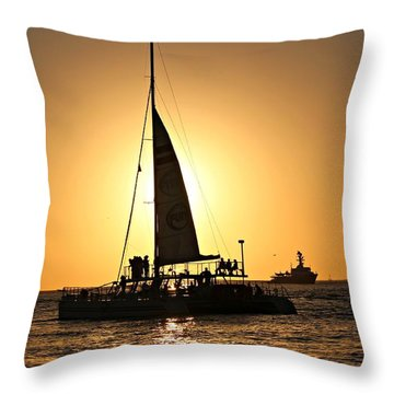 Key West Sunset Throw Pillow by Jo Sheehan