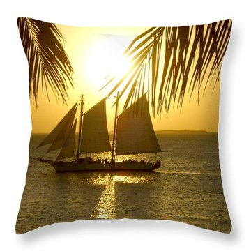 Throw Pillow featuring the photograph Key West Sunset by Joan  Minchak