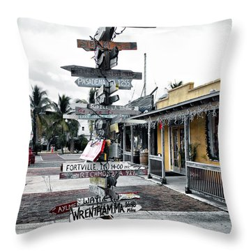 Key West Wharf Throw Pillow