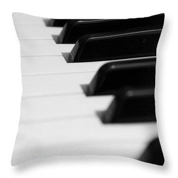 Keyboard Throw Pillow by Svetlana Sewell