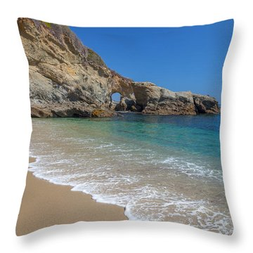 Keyhole Arch Laguna Beach Throw Pillow