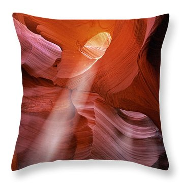 Keyhole Light Throw Pillow by Inge Johnsson