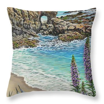 Keyhole Rock Laguna Throw Pillow