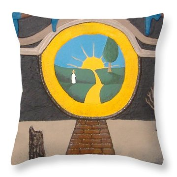 Keyhole Throw Pillow by Steve  Hester