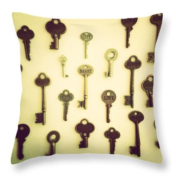 Keys Throw Pillow