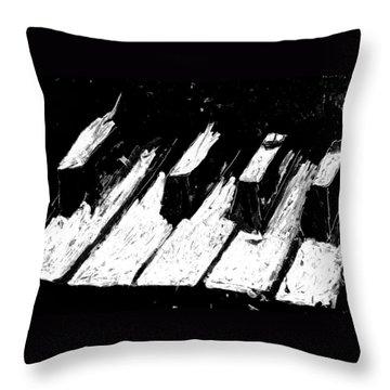 Keys Of Life Throw Pillow