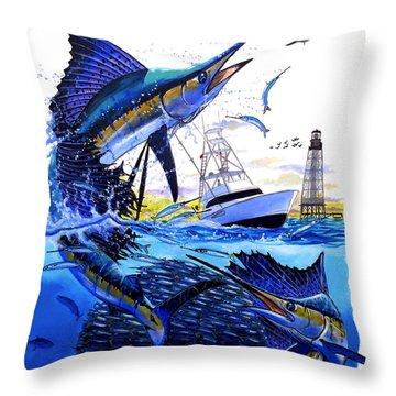 Keys Sail Throw Pillow