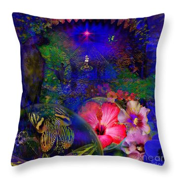 Solar Paradise Throw Pillow by Joseph Mosley