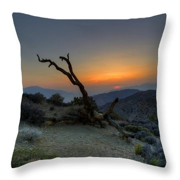 Keys View Sunset Throw Pillow by Dave Files