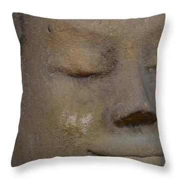 Khmer Head Throw Pillow