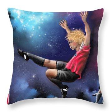 Kick Off Throw Pillow