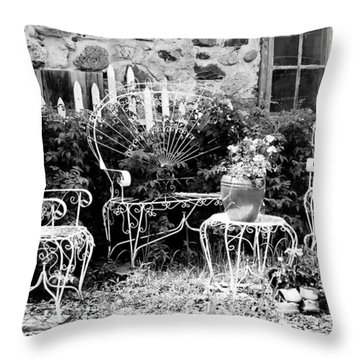 Kick Off The Work Boots And Relax Throw Pillow by Janice Adomeit