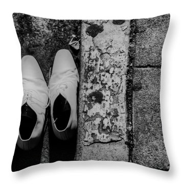 Throw Pillow featuring the photograph Kickin' Around The Town by Kandy Hurley