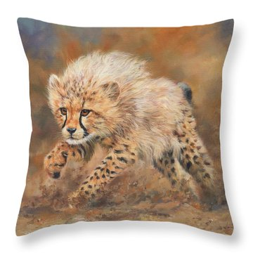 Kicking Up Dust 3 Throw Pillow by David Stribbling
