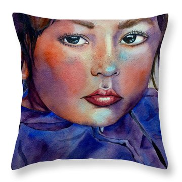 Kid Next Door Throw Pillow