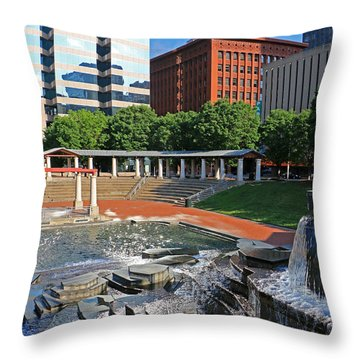 Kiener Plaza Morning Throw Pillow
