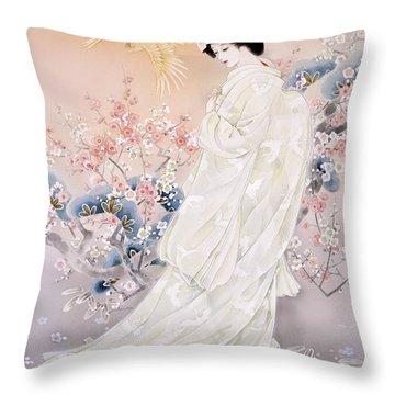 Kihaku Throw Pillow by Haruyo Morita